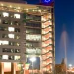 St. Louis University, Edward A. Doisy Research Center. Twilight View.