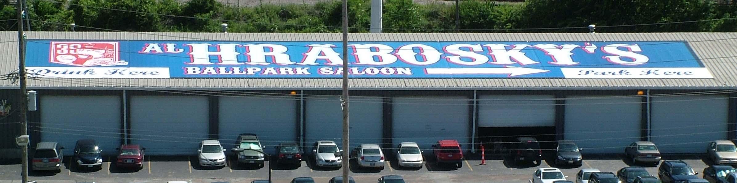Ballpark Saloon 32x160 Vinyl Flex Banner