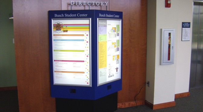 Busch Student Center Directory at SLU