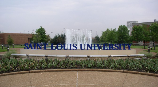 SLU Fountain on Grand